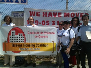 QHC tenant leaders with coordinator Ivan Contreras (far right)