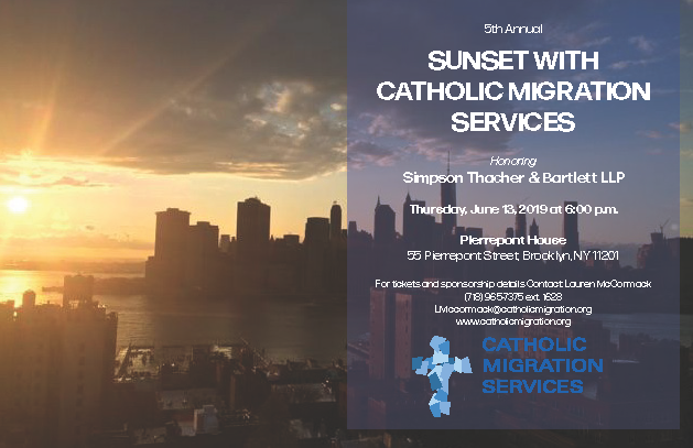 Sunset with Catholic Migration Services