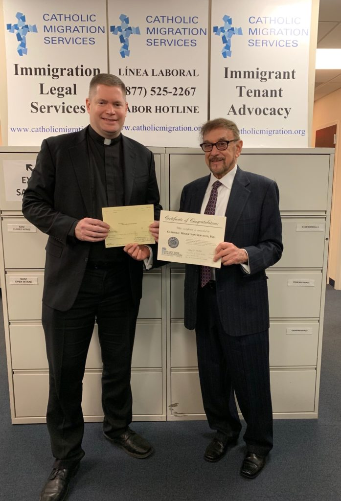 Catholic Migration Services Awarded Combined Grant of $10,320 from The New York Bar Foundation